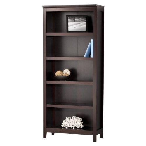 Amazon.com: Threshold Carson 5 Shelf Bookcase, Espresso: Kitchen & Dining