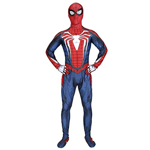 PS4 Spiderman Costume Game Anime Avengers Halloween Theme Party Movie Clothes,Man-XL -