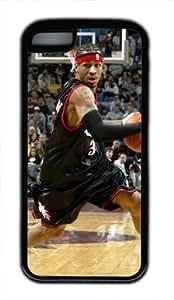 Allen Iverson Philadelphia 75 5sers #3 NBA Sports DIY iPhone 5 5s tpu black WANGJING JINDA