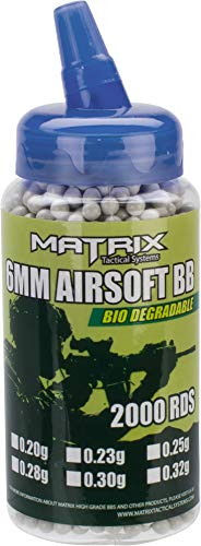 Evike 0.30g Sniper Max Grade Biodegradable 6mm Airsoft BBS by Matrix - 2000 Rounds by Evike