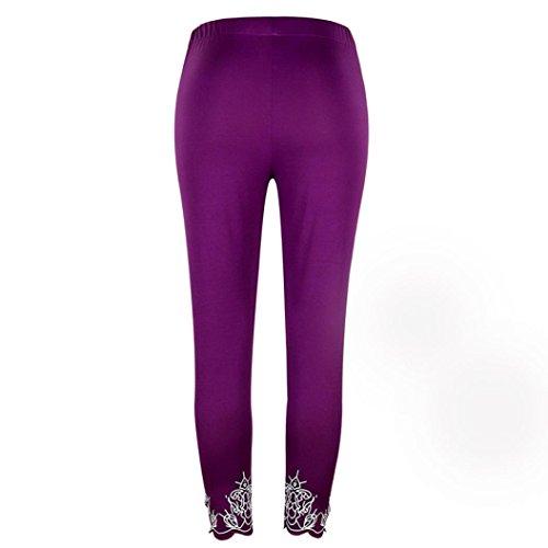 Sunfei Women Sport Yoga Print Workout Mid Waist Running Pants Plus Size Fitness Elastic Leggings