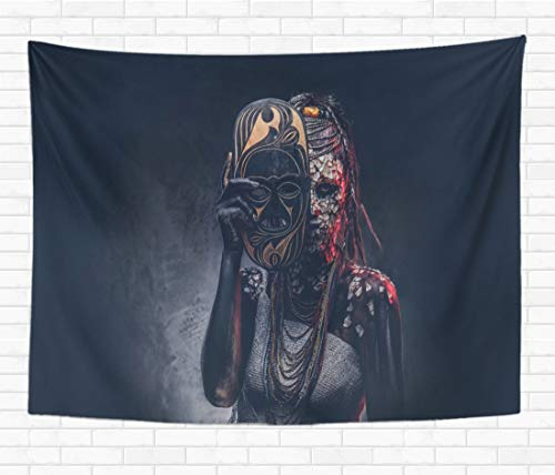 Scary Real Tribal Warrior Costumes - Topyee Home Decorative Tapestry Wall Hanging