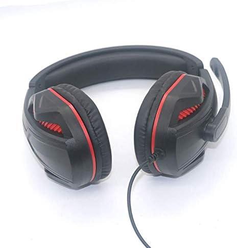 HNSYDS ヘッドセットゲーミングヘッドセット有線ヘッドセットコンピュータヘッドセットデュアルオーディオ音質のクリアは、2つの色が選択できます聴覚障害削減します ゲーミングヘッドセット (Color : Blackred)