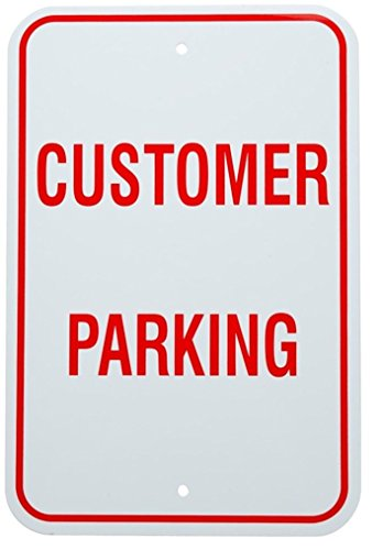 12 Tenant Doors (1 Pc Luxurious Unique Aluminum Customer Parking Sign Warning Vehicles Yard Decal Private Disabled Post Stand Away Plastic Decor Tenant Visitor Van Car Permit Pole Custom Only Reserved Size 12