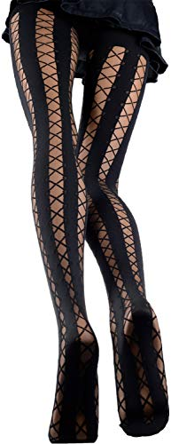 - Trasparenze Ipparco Patterned Tights-2-Black