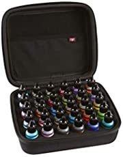 2TUFF Alcohol Ink Storage Case and Paint Carry Case - Fits up to 30 Bottles - Alcohol Ink Case and Miniature Paint Organizer for Ink and Paints with Foam Insert and Inner Storage Pocket