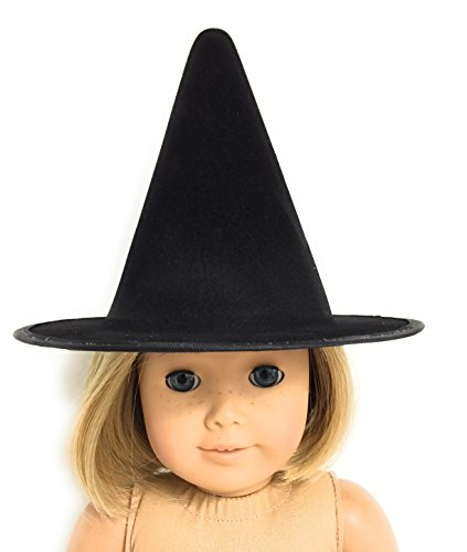 Dori's Doll Boutique Black Halloween Witch Hat made for 18 inch American Girl Dolls -