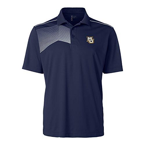 CBUK NCAA Marquette Golden Eagles Men's Glen Acres Polo Tee, Large, Navy