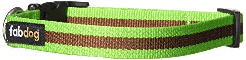 fabdog Classic Stripe Dog Collar Green (Small)
