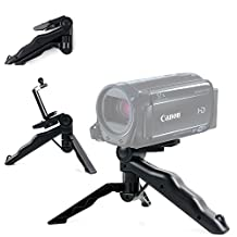 DURAGADGET Durable Black Multi-Functional Mini Camcorder Tripod / Monopod for NEW Canon VIXIA HF R600 / R62 / R60 Camcorder