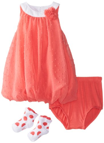 - Petit Lem Baby Girls' Fluffy Flamingo Bubble Dress and Diaper Cover, Pink, 18 Months