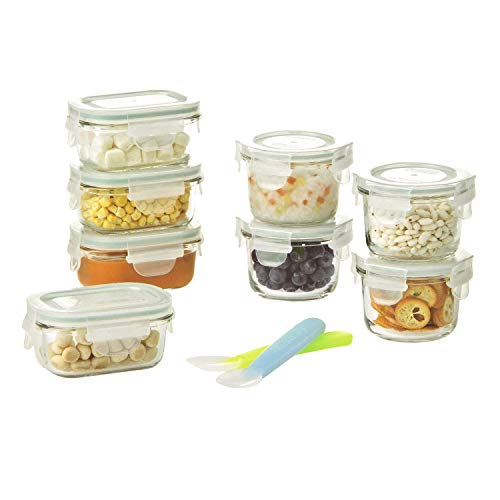 Glasslock Baby Food Glass Container Set, 18 pcs ()