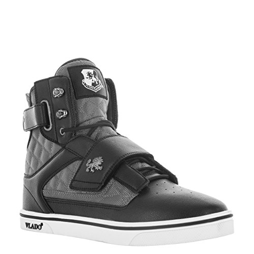 Vlado Footwear Mens Atlas 2 Microfiber & Cordura High Top Burgandy/White Sneakers Black/Grey CM34kcoNV