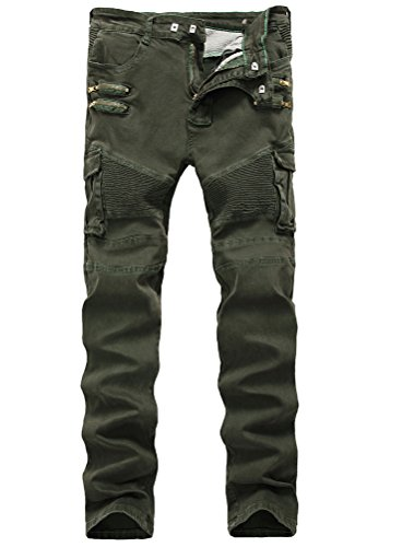 Green Motorcycle Pants - 2
