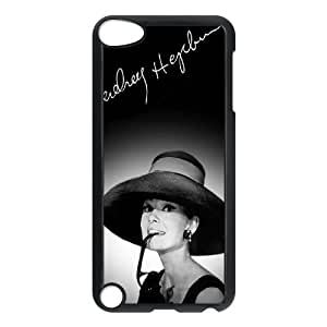 T-TGL(RQ) Unique Design Audrey Hepburn Pattern Protective Cell Phone Case for Ipod Touch 5