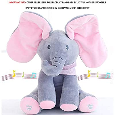 Plush Toy for Baby - Peek-a-Boo Elfie the Elephant Animated Talking & Singing Stuffed Musical Feature for Boys & Girls |A Perfect Newborn Gift| Ages 0+