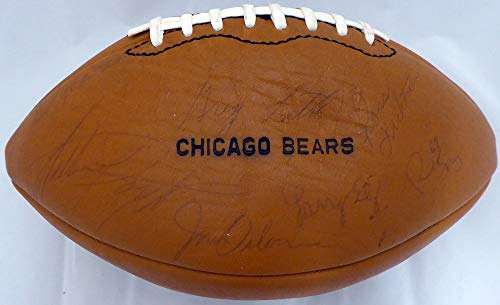 1975 Chicago Bears Autographed Football With 43 Signatures Including Walter Payton Rookie Signature Beckett BAS #A19611