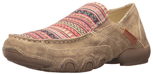 Roper Women's Daisy Driving Style Loafer, Tan, 8 D US from Roper