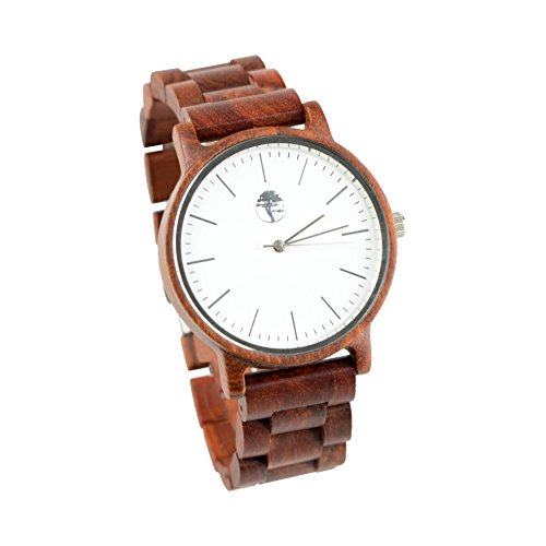 Viable Harvest Men's Real Wood Watches and Solid Wooden Bands (White) -