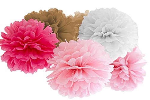 Tissue Paper Pom Poms by Atmos - 20PCS - 8