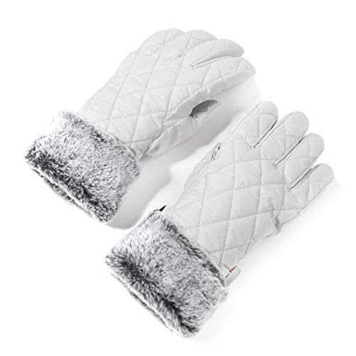 white insulated gloves - 7