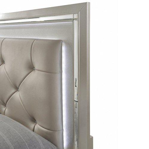 Elegance 5 Piece Bedroom Suite: Twin Bed, Dresser, Mirror, Chest, and Nightstand