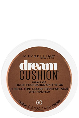 Maybelline New York Dream Cushion Fresh Face Liquid Foundation, Cocoa, 0.51 oz. (Best Foundation For Coverage And Oily Skin)