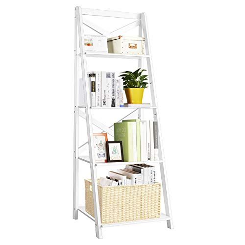 Tangkula 4-Tier Ladder Shelf