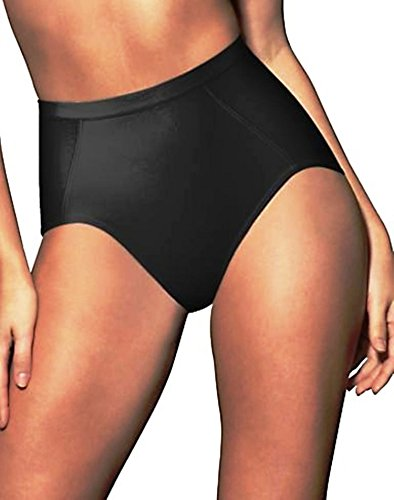 Hanes Women's Seamless Shaping Brief HW04 (Black, (Full Coverage Shaping Panty)