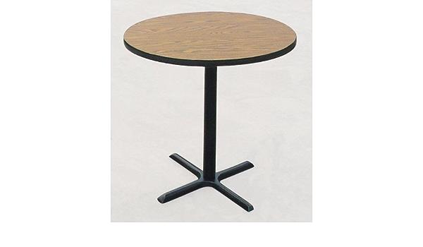 BCT3042-07 Tops Made in The USA Correll 30x42 Rectangular Bar Caf/é /& Break Room Bistro Table Black Granite Laminate Top /& Black Cross Cast Iron Base