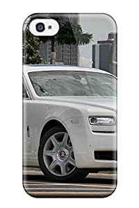 First-class Case Cover For Iphone 4/4s Dual Protection Cover Rolls Royce Ghost 41 by lolosakes