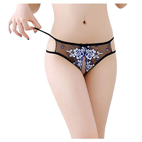 F_Gotal Sexy Underwear for Sex Womens Lace G-String Bowknot Panties Sexy Thongs Knickers Briefs ()