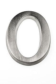 HUBER Hausnummer Nr. A Aluminium eloxiert 10 cm, edles dreidimensionales Design