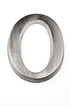 HUBER - Nú mero para casa (Aluminio anodizado, 10 cm), diseñ o Tridimensional diseño Tridimensional