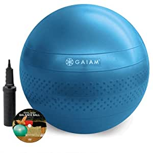 Gaiam Total Body Balance Ball Kit (75cm) with Stretch Strap