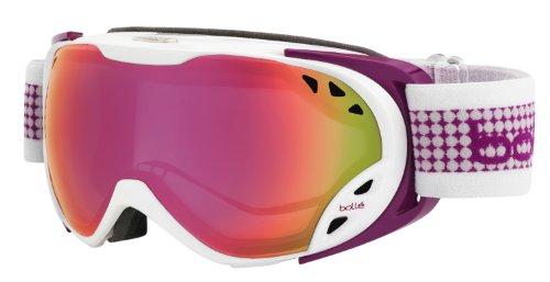 Bolle 21136 Duchess Ski Goggle, White and Plum - Ski or Snowboarding ()