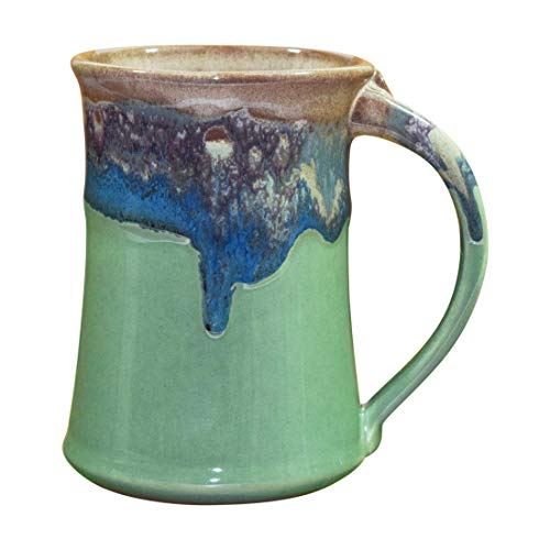 Clay in Motion Handmade Ceramic Large Mug 20oz - Mountain Meadows ()