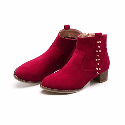 Suede Winter boot boots gules girls Boots with big code qS4Swfx