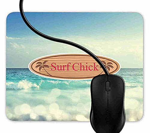 - Mouse Pad Gaming Surf Chick Surfing,9.25X7.75 inch Non-Slip Rubber Mousepad Mat for Desktops, Computer, PC and Laptops 1F3733