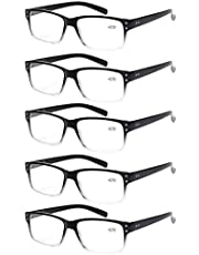 Norperwis Reading Glasses 5 Pairs Quality Readers Spring Hinge Glasses for Reading for Men and Women