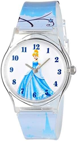 Disney Kids' W001274 Tween Cinderella Plastic Watch, Analog Display, Analog Quartz, Multi-Color Watch