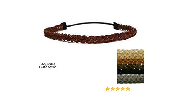 Maroon One Size Fits Most Braided Headband Black /& White
