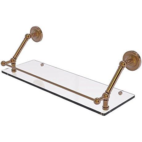 Allied Brass PR 1 24 GAL BBR Prestige Regal 24 Inch Floating Glass Shelf With Gallery Rail