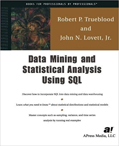 Data Mining & Statistical Analysis Using SQL by Jr., John N. Lovett (2001-09-18)