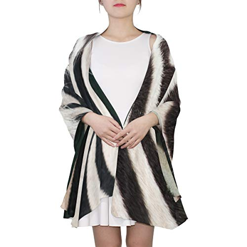 Zebra Black And White Stripes Unique Fashion Scarf For Women Lightweight Fashion Fall Winter Print Scarves Shawl Wraps Gifts For Early Spring ()