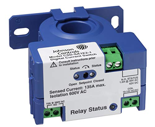 Johnson Controls CSD-SA1E2-1 Series CSD Digital Output Current Switch with LED Display, Solid Core, Adjustable Threshold, 1.00 amps, 12 V SPST