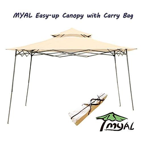 - MYAL 10x10ft Pop-Up Canopy Patio Outdoor Easy Up Gazebo Beige