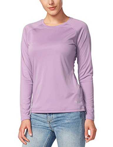Baleaf Women's UPF 50+ Sun Protection Long Sleeve Outdoor Performance T-Shirt Purple Size M