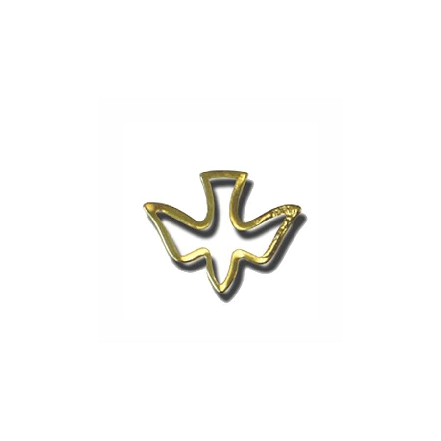 Gold Open Dove Gold Lapel Pin Pack of 12