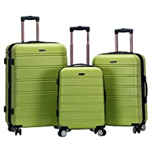 Rockland Melbourne 3 Pc Abs Luggage Set, Lime